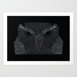 Owling imperfections Art Print