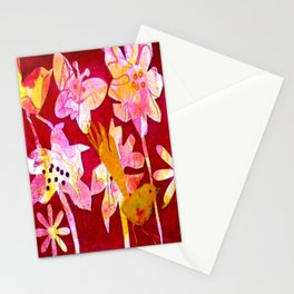 Red Paradise Delight Stationery Cards