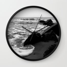Morning Tide at Folly Beach Wall Clock