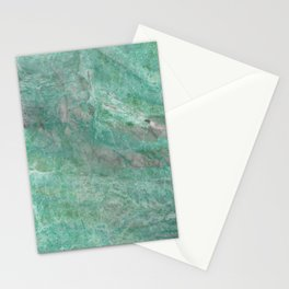 Mossy Woods Green Marble Stationery Cards