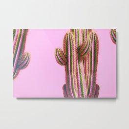 Cactus Pastel Colors Metal Print