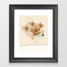 out flowers Framed Art Print