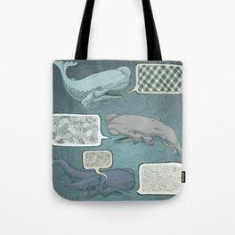 Whale Talk Tote Bag