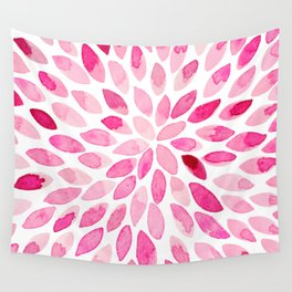 Watercolor brush strokes - pink Wall Tapestry
