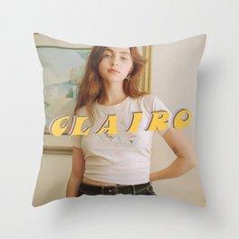 Clairo Throw Pillow