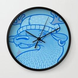 Blue Hairpin Wall Clock