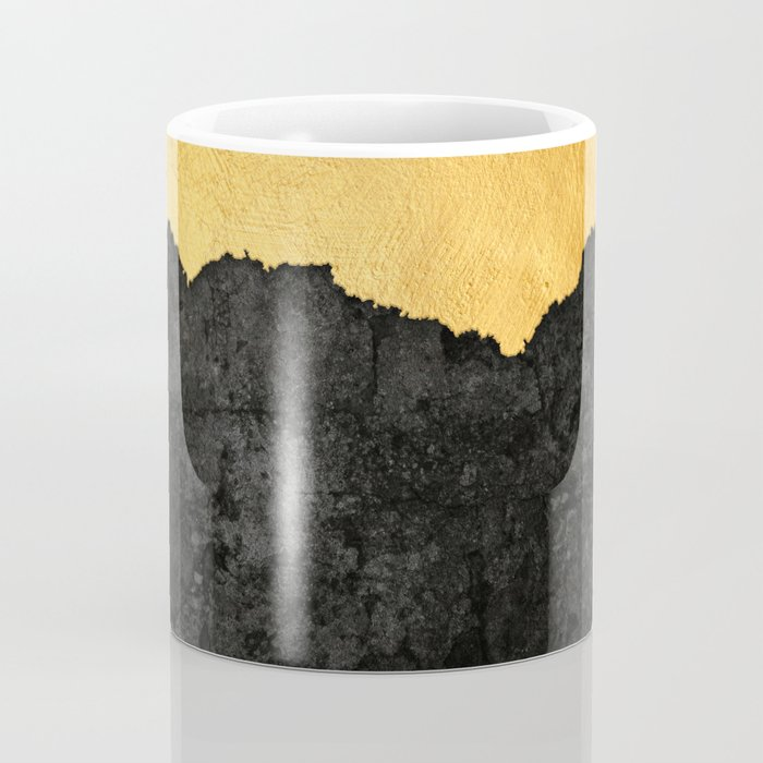 Black Grunge & Gold texture Coffee Mug