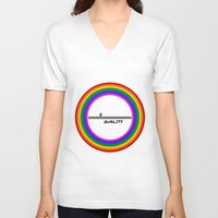 equality V-neck T-shirts featuring Equality by LukaG