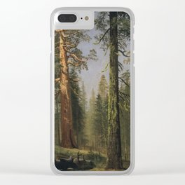 Albert Bierstadt - The Grizzly Giant Sequoia Clear iPhone Case