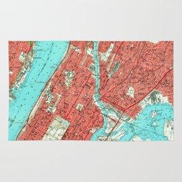 Vintage Map of Uptown Manhattan & The Bronx (1956) Rug
