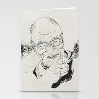 lama Stationery Cards featuring Dalai Lama by RiversAreDeep