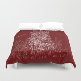 Shoetree in Deep Red Duvet Cover