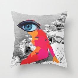 SiLuEtte 1 woman Throw Pillow