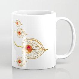 Thanksgiving Physalis Abstract Happy Autumn Season Coffee Mug