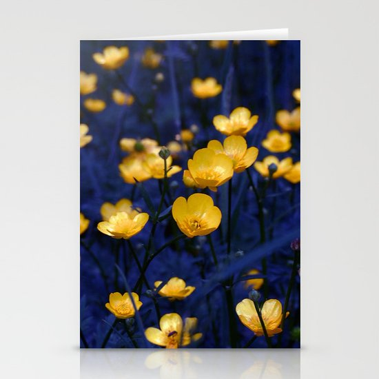 a sea of buttercups Stationery Cards