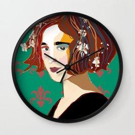 Florentine Spring girl Wall Clock