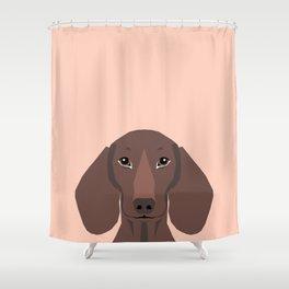 Remy - Daschund hipster dog, doxie, weiner dog, wiener dog,  Shower Curtain
