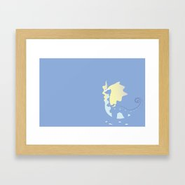Aura Dino Framed Art Print