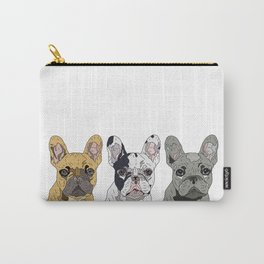 Triple Frenchies Carry-All Pouch