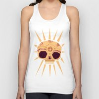 skull Tank Tops featuring sugar skull by Yetiland