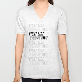 RIGHT SIDE STRONG SIDE Unisex V-Neck