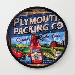 Plymouth Mural Wall Clock