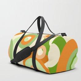 vintage rings orange green Duffle Bag