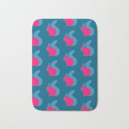 Pink Squirrels Pattern Bath Mat