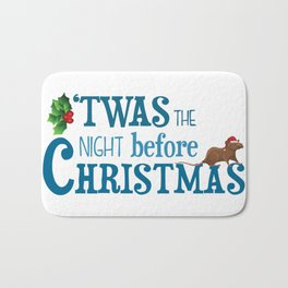 it was the night before Christmas Bath Mat
