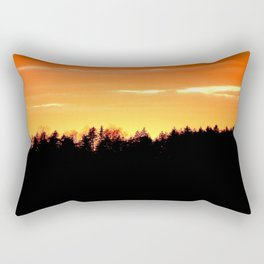 Black Forest Silhouette In Orange Sunset #decor #society6 Rectangular Pillow