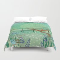 country Duvet Covers featuring Country Lane by Alannah Brid