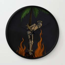 Palm Skeleton Wall Clock