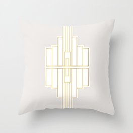 White Gem Throw Pillow