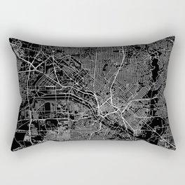 Dallas Black Map Rectangular Pillow