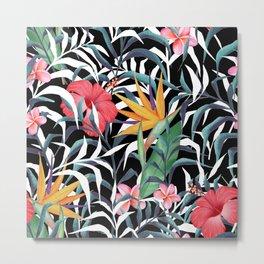 Tropical plants. Flowers and leaves Metal Print