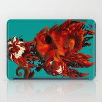 karma iPad Cases featuring Karma by angrymonk