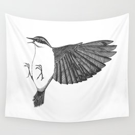 kung-fu nuthatch Wall Tapestry