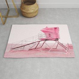 Malibu Lifeguard Tower in Pink Rug