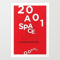 2001 a space odyssey Art Prints featuring 2001: a space odyssey by Rodrigo Müller