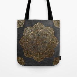 Wood Mandala - Gold Tote Bag