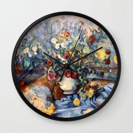 "Paul Cezanne ""A Large Bouquet of Flowers "" Wall Clock"