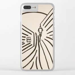 Study of a Man Walking Into the Sun Clear iPhone Case