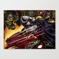 tmnt Canvas Prints featuring TMNT by Iggycrypt