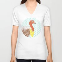 turkey V-neck T-shirts featuring Go turkey! by Albert Palen  >   albertpalendraws.com