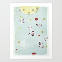 outer space Art Prints featuring Outer Space by Max Grünfeld
