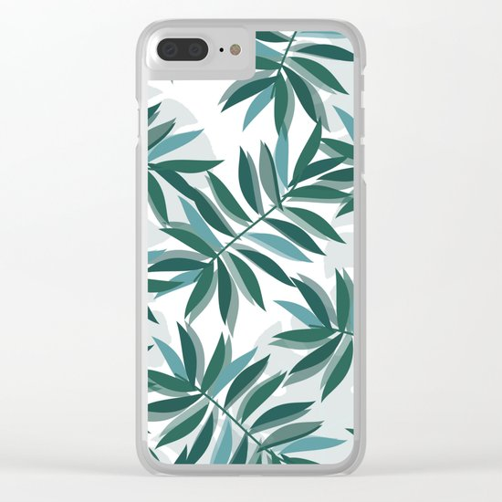 MIAMI PALM TREES Clear iPhone Case