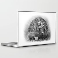 hedgehog Laptop & iPad Skins featuring Hedgehog by MARIA BOZINA - PRINT
