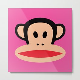 Julius Monkey by Paul Frank - Pink Metal Print