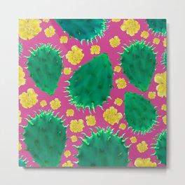 Cactus Fiesta Metal Print