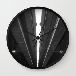 'Under the Freeway' Abstract Urban Photographic Print Wall Clock